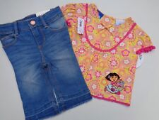 New lot Dora Nick Jr. T-shirt Shirt & Old Navy Jeans Pants Baby Girls Sz 12-18 M