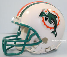 MIAMI DOLPHINS (1997-2012 Throwback) Riddell VSR4 Mini Helmet