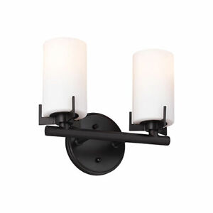 Feiss VS39002-ORB Kenton 2-Light Vanity Strip Light Fixture Oil Rubbed Bronze