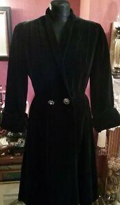 1950s Cherry , London mirror velvet evening coat immaculate size 12