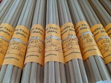 Hunter Grade Old Growth Port Orford Cedar Wood Arrow Shafts, Dozen Pack