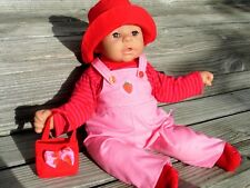 Kleidung Latzhose für Puppen Gr. 46 - 48 cm ANNABELL Chou Cookie Bambina rosarot