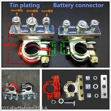 "2pc 3way ""+"" and ""-"" Leisure Battery Terminals Connectors Clamps Car Van Caravan"