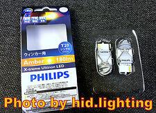 (PAIR) PHILIPS T20 WY21W X-treme Ultinon LED Amber Indicator turn signal Light