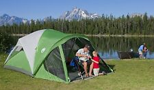 Camping Tents 8 Person Coleman Evanston 15 X 12 Screened Green White Tent