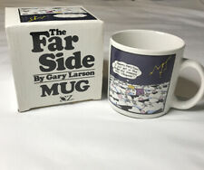"Vintage The Far Side Mug Cup Cow ""Stampede""  Gary Larson 1986 -OZ"