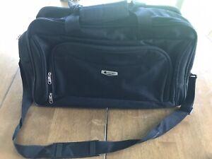 DELSEY Black Duffel Carry On Travel Bag w/Shoulder Strap