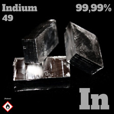 20 g Indium Metall 99,99% - In 49 Indium metal - Element sample - high quality