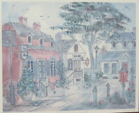 "Lucretia Restrepo ""Old Williamsburg, VA"" Signed Numbered Framed Watercolor Print"