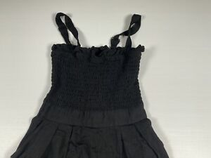 Sheike Womens Playsuit Jumpsuit Size 10 Black Adjustable Straps