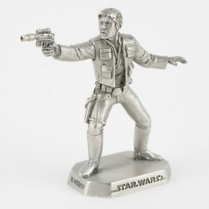 Han Solo   Vintage 1990s Star Wars Figure by Rawcliffe Pewter