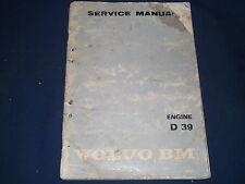 VOLVO BM D 39 ENGINE SERVICE SHOP WORKSHOP REPAIR BOOK MANUAL