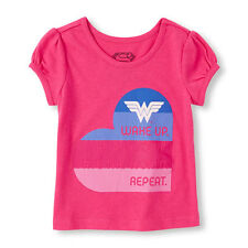 Girls 'Wake Up. Be Awesome. Save The World. Repeat' Wonder Women Shirt Size 3T