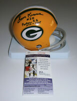 PACKERS Larry Krause signed mini helmet AUTO w/ RB 1970-75 AUTO Autographed
