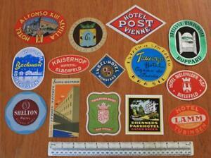 Huge Job Lot 82x Vintage Hotel Luggage Labels c1960s/70s ALL LABELS SHOWN