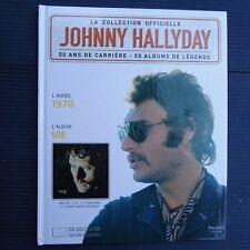"Johnny Hallyday Collector Livre CD 1970 "" VIE ""  22,5 x 18 Cm Collection Vitrine"