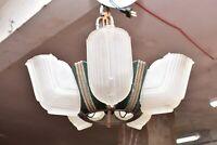 Streamline Art Deco Slip Shade Chandelier 5 Light Ceiling Fixture Lighting
