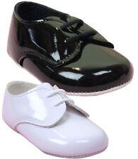 BabyPrem Baby Boys Pram Shoes Baypods White Black Wedding Christening 0-18m UK
