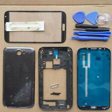 Full Housing Case cover + Screen Glass For Samsung Galaxy Note 2 II N7100 Gray