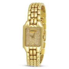 NOS 18k Gold JUVENIA Ladies watch Ref.11537 with Diamond Dial