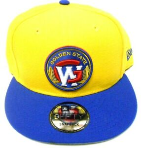 New Era NBA GSW Golden State Warriors Yellow Dubs 9Fifty Snapback Hat Cap Curry