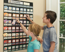 Neatlings Chore Chart System | Customize Reward Chart | Up to 6 Kids | 80+Chores