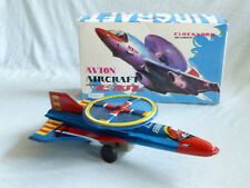Red China MS 134 AIRCRAFT JET giocattoli di latta tin toy Clockwork 70er anni OVP