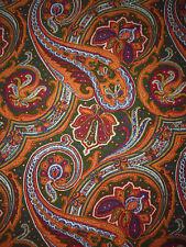 tissu textile ameublement coton imprimé Boussac cachemire vintage 80x142 cm
