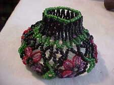 Czech Bohemian Beaded Art Glass Multicolored Bulb Cover Electric Lamp Shade
