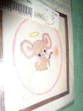 (2735) Vintage CM Crewel embroidery kit Angel Mouse