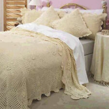 "Crochet bed Cover set Size 90""x 108"""