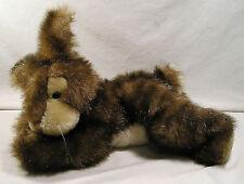"Stuffed Animal Plush, 14"" Tip Dyed Fur Bean Bag Lying Bunny Rabbit by Fiesta"