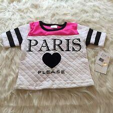 NWT Paris Please... Funny Shirt Top 6x Girls Youth Hip Hop Pink Short Sleeve