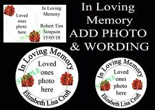 In Loving Memory Photo stickers Labels Funeral Church order of service