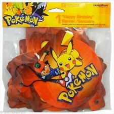 POKEMON HAPPY BIRTHDAY BANNER ~ Party Supplies Room Decorations Pikachu Ash