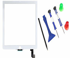 Top Front Touch Screen Digitizer iPad 6 iPad Air 2 A1566 A1567 + Tools White UK