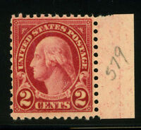 579 Mint 1923 2c Carmine Washington Perf 11x10 Rotary MNH US Stamp 8C14 16