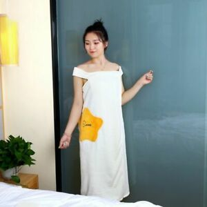 Wearable Ladies Microfiber Soft and Skin-friendly Absorbent Shower Bathrobe
