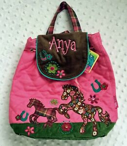 Personalised Stephen Joseph Horse Signature backpack for kids, School Bag