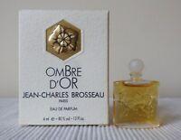 """MINIATURE DE PARFUM JEAN-CHARLES BROSSEAU """"OMBRE D'OR"""" EAU DE PARFUM 4ml+BOITE"""