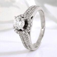 Diamanten-Ringe im Solitär mit Akzentsetzung-Stil für Damen