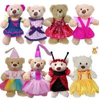 16 inch/40cm TEDDY CLOTHES - PINK DRESS, PRINCESS,DENIM,TUTU,BIRTHDAY,BUTTERFLY