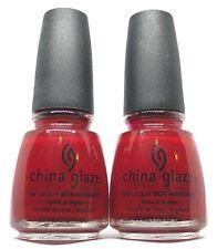 China Glaze Nail Polish Masai Red 152 Warm Red Jelly Creme Lacquer