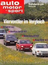VW GOLF GTi 16V II 2 Sonderdruck ams Test Testbericht Prospekt Brochure 1990 28