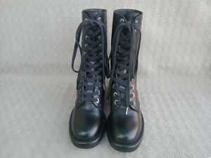 CHANEL black women's standard lace-up combat army boots size 36 c made in Italy