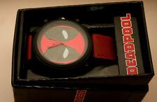 Marvel Comics DeadPool Logo Accutime Watch Large Men's New NOS Box
