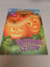 New Glow in the Dark Halloween sticker pumpkin book to color tare and share page