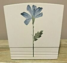 Croscill Home Bathroom Tissue Holder Tissue Box Cover Blue Floral Leaf