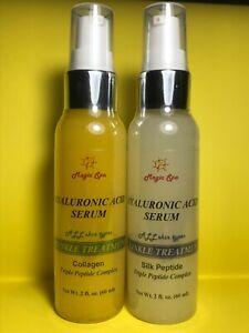 2B*2oz. Hyaluronic Acid Serum Collagen Silk Peptide Wrinkle Filler Matrixyl 3000