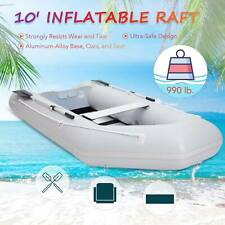 10' Heavy Duty Inflatable Boat Raft for Adults on Rivers Lakes More
